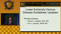 Lower Extremity Venous and Neuropathic Wound Guidelines